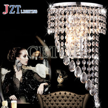 J LED Crystal Wall Lamps Lights Lighting Fixtures For Bedside Hotel Bedroom Staircase Modern Stainless Steel Light