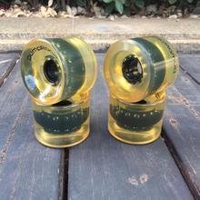 Roues de 4 pièces/ensemble Pro 64*51mm 80A pour la couleur transparente de roues de planche à roulettes de conseil de croiseur de conseil de Penny