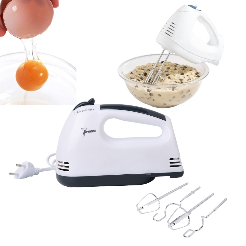 Image 5 - 7 Speed Electric Hand Mixer Whisk Egg Beater Cake Baking Home Handheld Small Automatic Mini Cream Hairener Tool 180W 220 240V EUBlenders   -