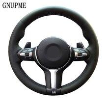 Coprivolante per auto fai da te nero in vera pelle GNUPME per BMW M3 M4 2014   2016 F31 428i 2015 F30 320d 328i 330i 2016