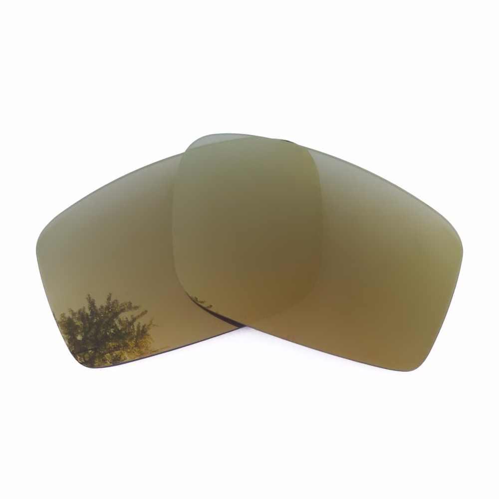 Perunggu Emas Kacamata Bingkai Cermin Polarized Lensa Pengganti untuk Minyak Drum 100% UVA & UVB Anti gores