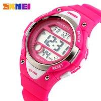 SKMEI уличные спортивные детские часы  цифровые часы с будильником для мальчиков  Детские водонепроницаемые часы с секундомером  наручные час...