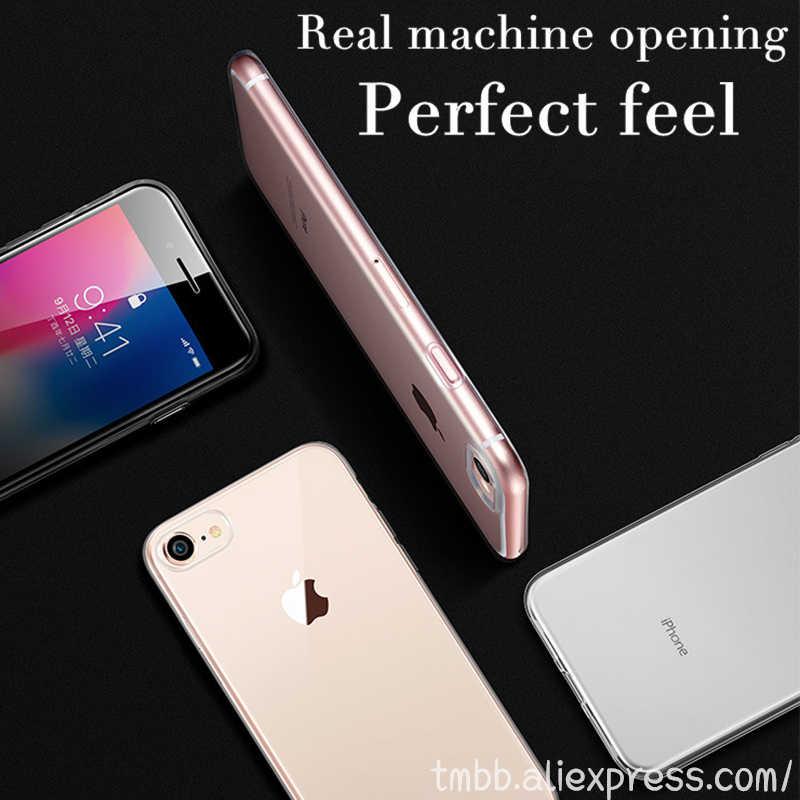 Горячая Распродажа ультра тонкий прозрачный термопластичный полиуретан силиконовый чехол для iPhone XS MAX XR 6 7 6 S Plus 8 7 Plus 4S 4 5S SE 5C Защитная Резина
