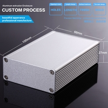 66*27*100mm Various Sizes/Designs are Available, Used in Consumer Electronics, Aluminum Extruded Enclosure