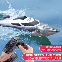 Remote Control HJ806 2.4G 4CH 180 Flip Waterproof 35Km/h High Speed Racing RC Boat RC Speedboat Kids Gift Toy 200 m Control kid