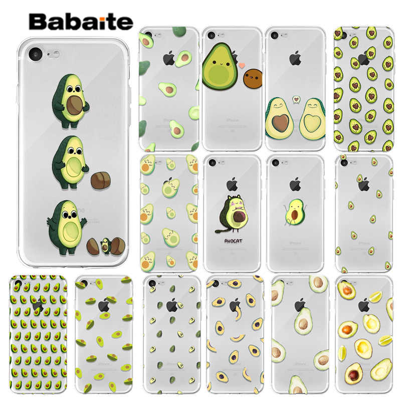 Babaite Cartoon cute avocado DIY Luxury High-end Protector Case for Apple iPhone X XS MAX  8 7 6 6S Plus 5 5S SE XR Cover