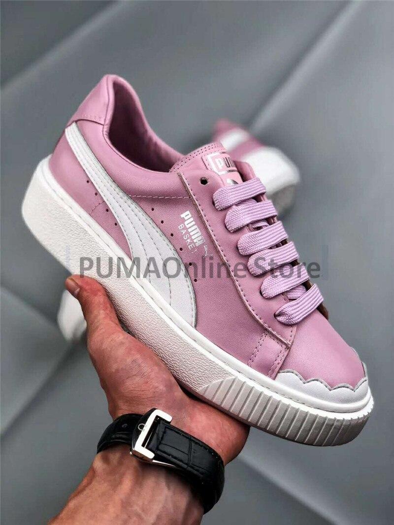 2018 New Arrival Original PUMA Basket Platform Scallop Women s Sneakers  Size EUR35-39 45c805c6ca92