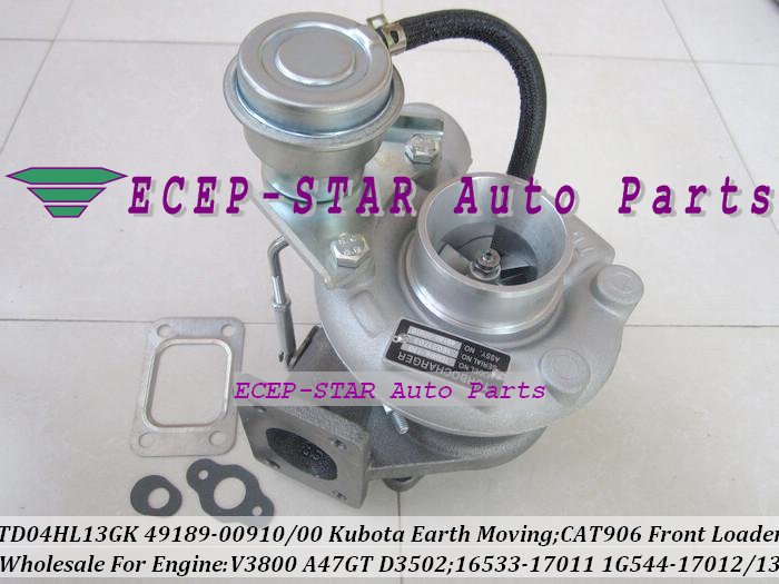 TD04 49189-00910 49189-00900 1653317011 1G54417012 1G54417013 Turbo Pour CHAT 906 Chargeur Frontal Pour Kubota Terrassement V3800 A47GT
