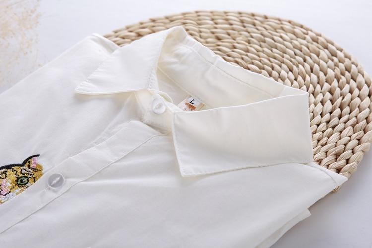 13 Modele Preppy Stili Bluzë e Bardhë Vajzat Pambuku E lezetshme e - Veshje për femra - Foto 4