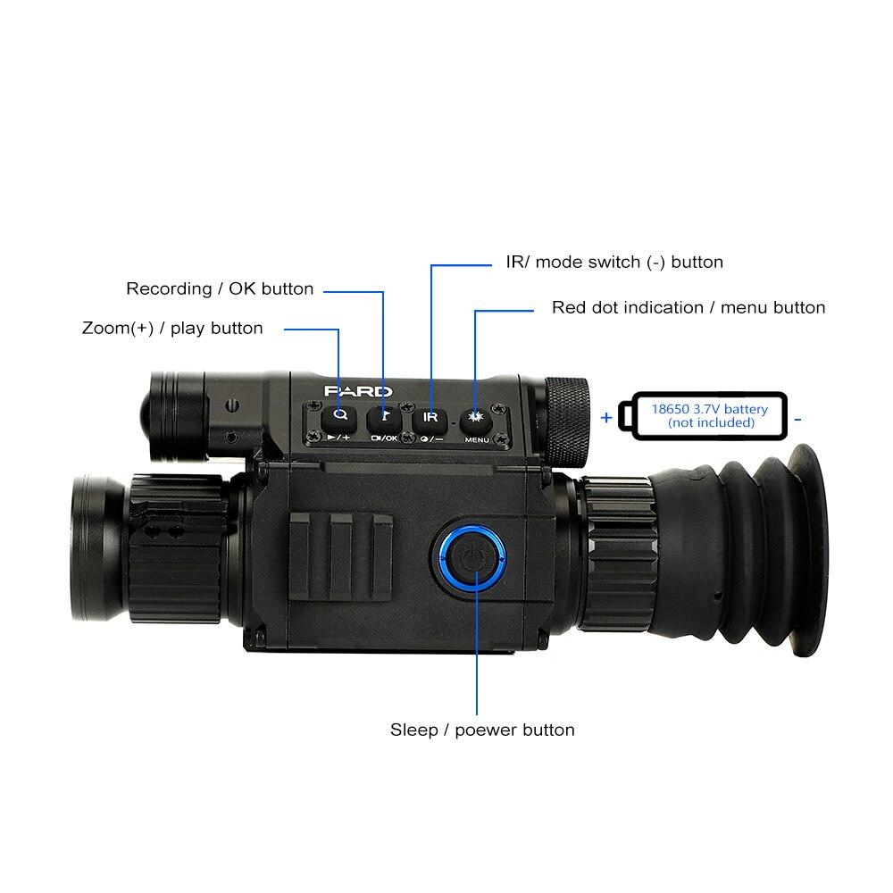 Lunette de chasse jour et nuit PARD NV008 lunette de Vision nocturne numérique caméra monoculaire IR avec pointeur Laser pour l'extérieur - 6