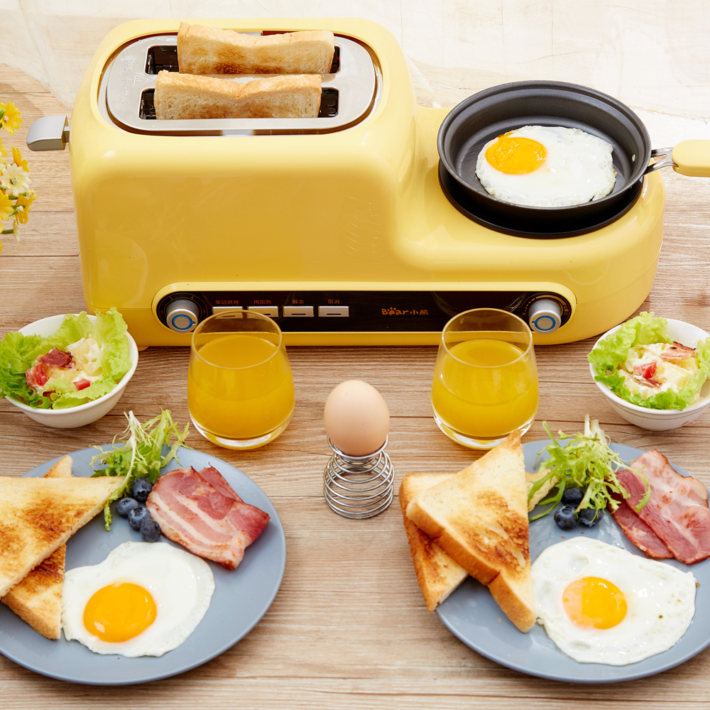 220V Non-stick Electric MultiFunctional Automatic Breakfast Bread  Toaster Machine Frying Stewing Baking Boiling function cukyi 2 slices bread toaster household automatic toaster breakfast spit driver breakfast machine