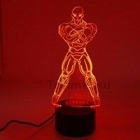 Dragon Ball Jiren Action Figure 3D Night Lights Visual Illusion LED Changing Anime Dragon Ball Goku