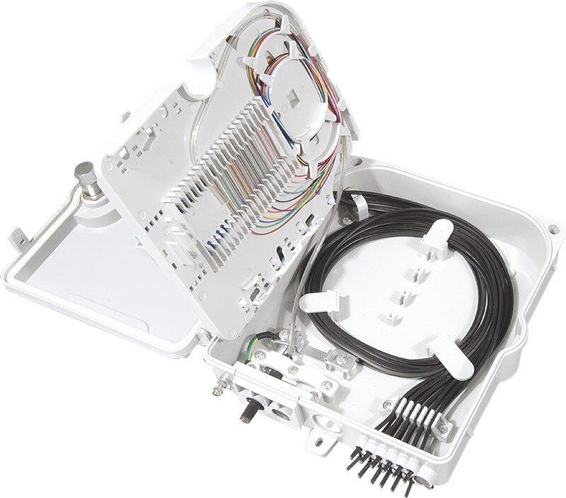 Image 4 - FTTH 12 cores fiber Termination Box 12 port 12 channel Splitter Box indoor outdoor fiber Splitter Box ABS-in Fiber Optic Equipments from Cellphones & Telecommunications