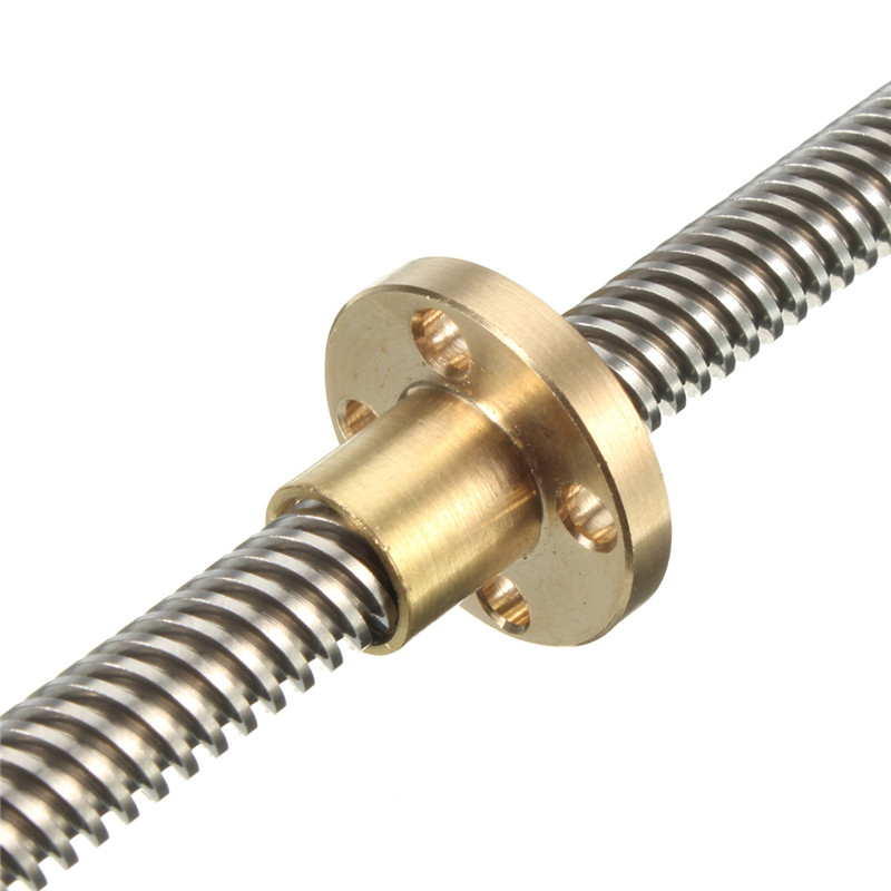 thsl 600 8d lead screw dia 8mm thread 8mm length 600mm trapezoidal spindle screw with copper nut for 3d printer THSL-300-8D Lead Screw Dia 8MM Thread 8mm Length 300mm spindle screw with Copper Shafts Nut Lead Screw for 3d printer