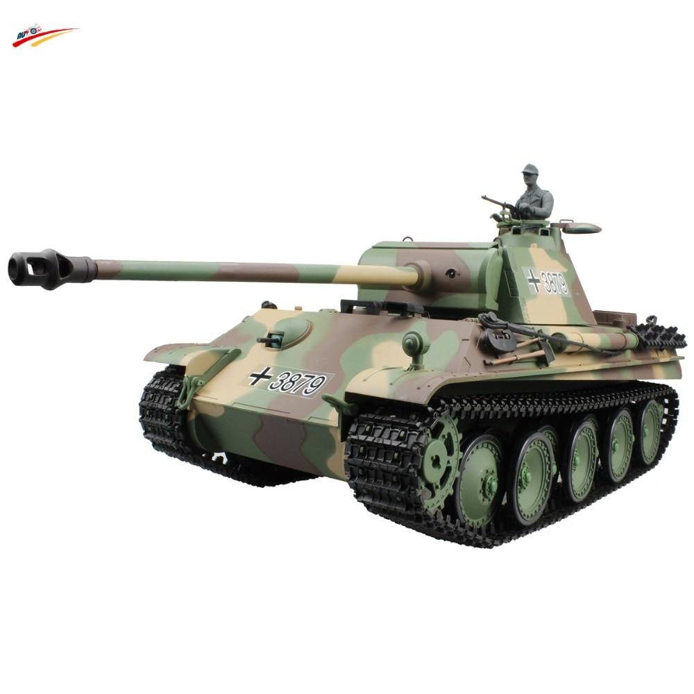 RC Tank 2 4G 1 16 German Panther Type G Battle Tank AirSoft with BB Smoking