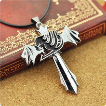Fairy Tail Personality Necklace The Choker Wings Rotatable Pendant