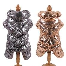 Теплая зимняя одежда для собак воротник непромокаемые комбинезоны для собак пуховик Водонепроницаемый Сгущает собак комбинезон Щенок наряд