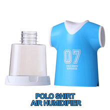 3Pcs/lot Polo Shirt Style Portable Mini Car Home Room Air Humidifier USB Diffuser Yellow Blue Red Humificadores Difusores PS-001(China)