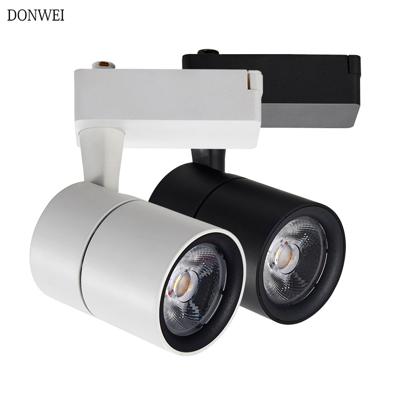 DONWE LED Track Light 20W 30W COB Track Lights Adjustable Angle Rail Spotlights Leds Fixture Spot Lights For Clothes Store