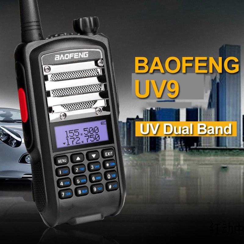 Nouveau Baofeng UV5R UV9 Talkie Walkie 8 w Haute Puissance VHF UHF UV Dual Band Portable Radio Bidirectionnelle Push à Parler PTT Avec lampe de Poche