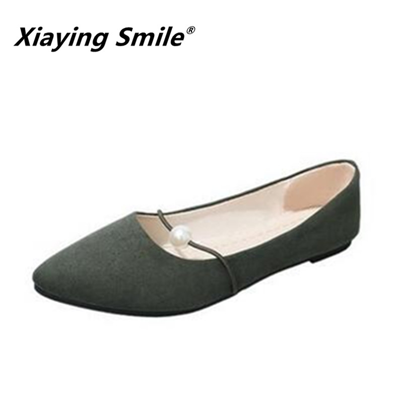 Xiaying Smile 2018 HOT Flats Shoes New Women Boat Shoes Spring Summer Autumn fashion Casual Loafers String Bead Women shoes xiaying smile summer new woman sandals casual fashion shoes women zip fringe flats cover heel consice style rubber student shoes