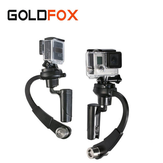 Sport Action Camera C-Curved Video Stabilizer Mini Handheld Steadicam  Gimbal Selfie stick For GoPro Hero 1 2 3 3+ 4 Xiaomi Yi