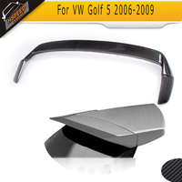 Carbon Fiber Replacement Rear Spoiler Wing Boot Lips Fit For VW GOLF 5 V MK5 GTI R32 Only 2006 2009 Non Standard