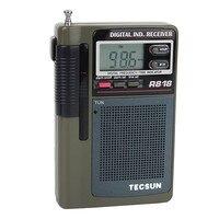 1 pc TECSUN Pocket Mini Radio FM/MW/SW Receiver Full Band Digital Clock Alarm + External Antenna TECSUN R 818 FM Radio