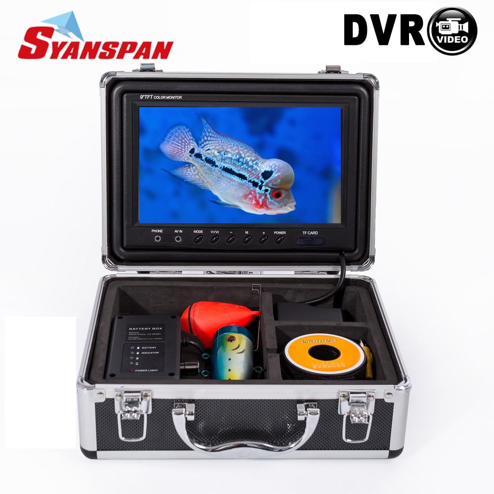 SYANSPAN 9 Рыболокаторы IP68 HD 1000TVL Запись Edition Подводная охота Видео Камера с 12 шт. белый/ИК-светодиодов