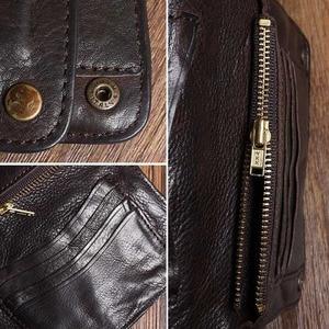 Image 5 - Original Handmade Wrinkle Wallet Leather Genuine Cow Leather Vertical Mens Wallets Retro Money Clips Luxury Short Billfold Purse