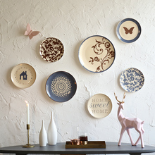 OUSSIRRO Wall Decorations Ceramic Plate butterfly Restaurant Cafe Bar Decoration L2118