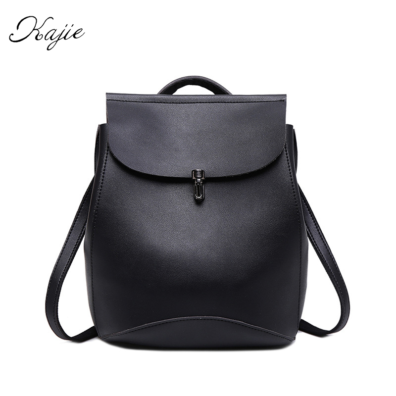 Kajie 2017 Hot Small Pu Leather Women Backpacks Shoulder Bags Crossbody Ladies Round Saddle Casual Fashion