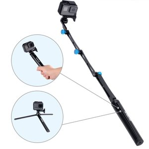 Image 2 - Smatree X1S Foldable Pole/Monopod for GoPro Hero 8/7/6/5/4/3+/3/Session,Ricoh Theta S/V,for DJI OSMO Action Cameras,Cell Phones