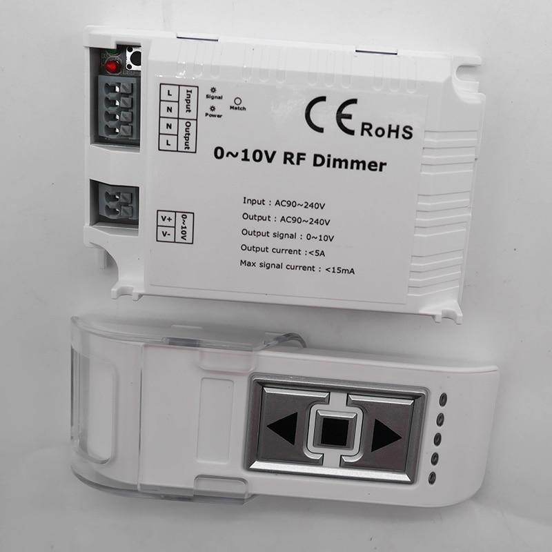 AC110V 220V High Voltage LED RF Dimmer DM015 1 Channel 0-10V 1CH Trailing Edge Dimming 3 Key With Remote LED RF Dimmer Control