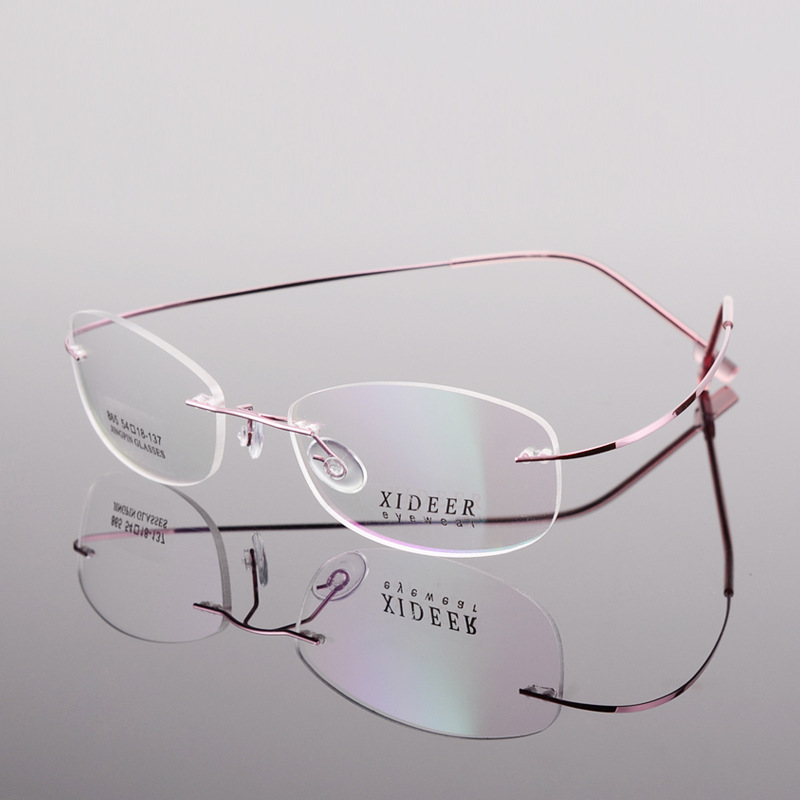 JIE.B Rimless Men Glasses Women Prescription Eyewear Myopia Diopter 1.61 MR-8 1.67