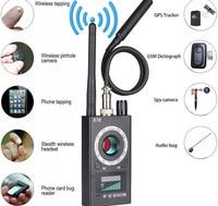 Anti Spy CAM Detector,RF Signal Bug Detector, Wireless Signal Camera Lens Laser Lens GSM Detector Full Range Tracker Finder