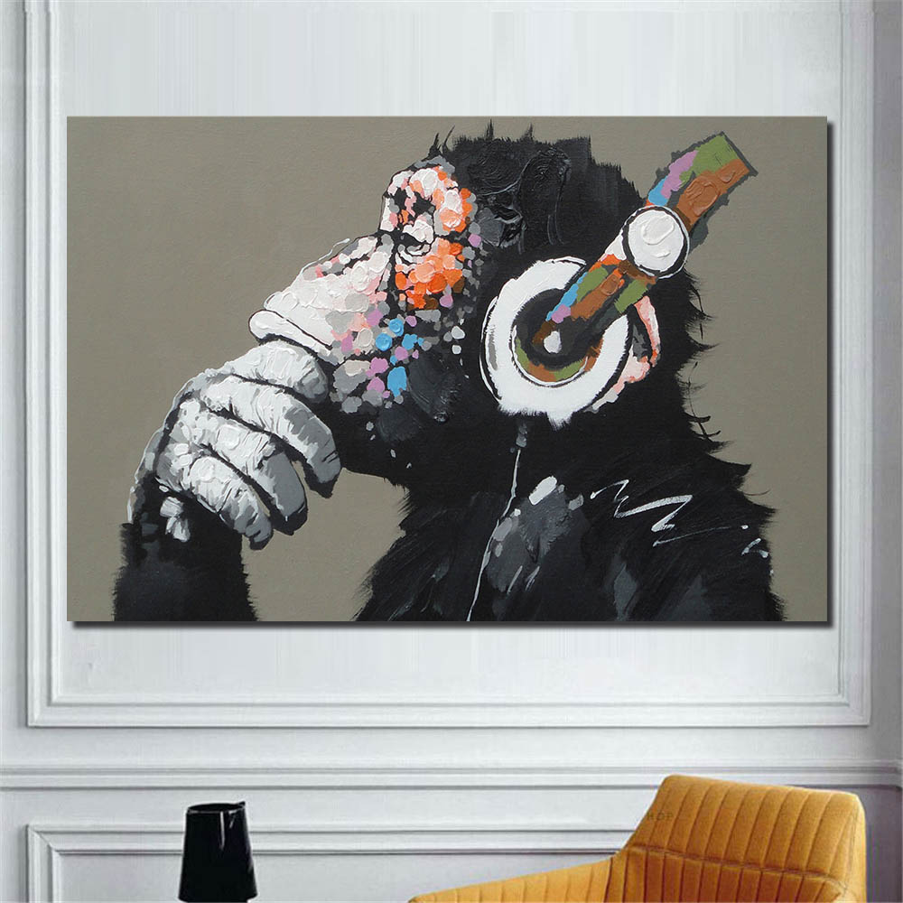 monkey canvas art picture