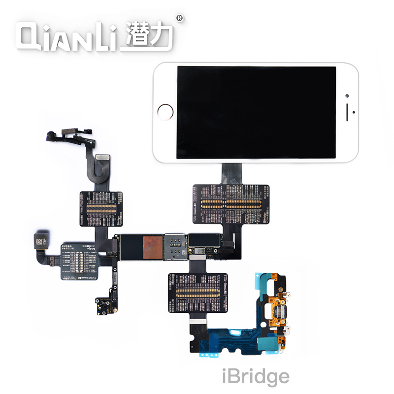 Qianli Tool IBridge Test Cable For IPhone X 8P 8G 7P 7 6SP 6S 6P 6 Motherboard Fault Display Touch Tail Plug Rear Camera Repair