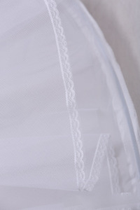 Image 5 - Trouwjurken hoepelrokrok lycra taille jupon tulle mariage wit wedding onderrok drukte crinoline WAS10040
