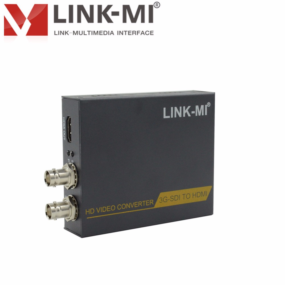 LINK-MI LM-SC5210C Full HD Video 1080p 3G SDI to HDMI Converter High-definition signal extension transmitter link mi lm ex11 1080p 50m single cat5e 6 hdmi extender utp cable high definition signal extension transmitter