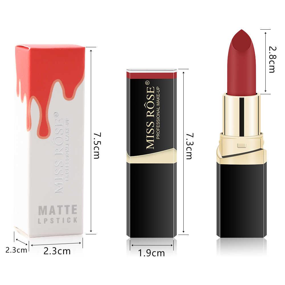 ミスローズ 1 Pc プロマットヌード口紅化粧品防水長期的な顔料ベルベット赤リップフェードしないリップメイク TSLM2