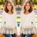 Autumn winter blouse lace tops shirt women blouses 2016 blusas de renda feminino sexy long sleeve femme blusas y camisas mujer