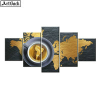 5 spell diamond painting map icons Religious pictures full square drill diamond embroidery woman living room decoration