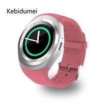 Y1 kebidumei سمارت ووتش جولة دعم نانو sim و tf بطاقة مع بلوتوث 3.0 رجال نساء التجارية smartwatch ل ios الروبوت