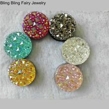 6 PCS Fashion Colorful Round Rhinestone Magnet Brooch Pin Crystal Hijab Pins, Free Shipping