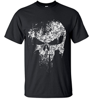2016 Streetwear Punisher Skull Hip Hop Supper Hero T Shirt Harajuku Men Short Sleeve T Shirt