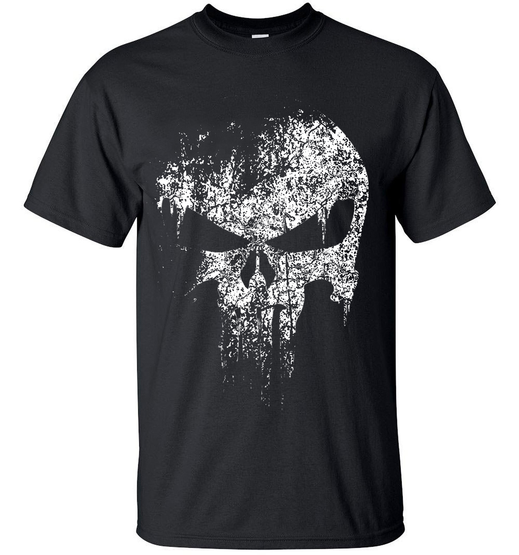 2016 Streetwear Punisher Skull Hip Hop Supper Hero T Shirt Harajuku Men Short Sleeve T Shirt