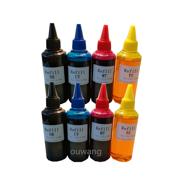 New 8PCS 100ml Cartridge Refill Ink for All Printer Set Hot Sale For PGI570 751 For HP655 For HP 178 For T2991 T1291 T1281