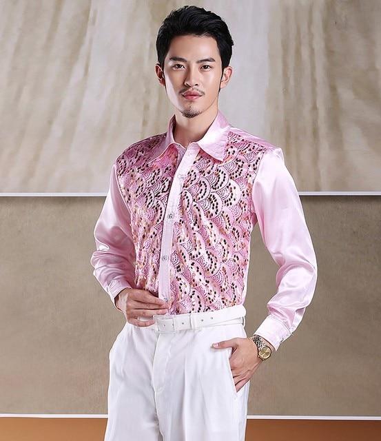 Blanco / rojo / rosa / amarillo / color de rosa caliente / Roral azul / celeste / lila camisa por encargo de la seda hombres Wedding novio / esposo / hombre camisas CS17