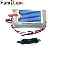 VamsLuna Ozone Generator 12v 3.5g/h Car Air Purifier Ozone Sterilizer With Mephitis Absorption Ceramic Plate